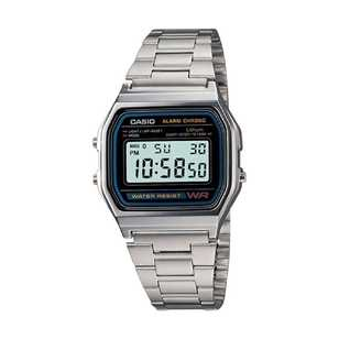 Casio A158WA-1 Stainless Steel Watch