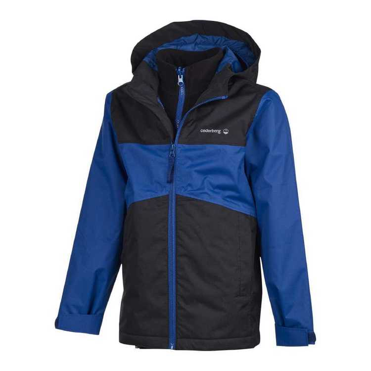Cederberg Boys' 3 In 1 Jones Jacket Black & Cobalt