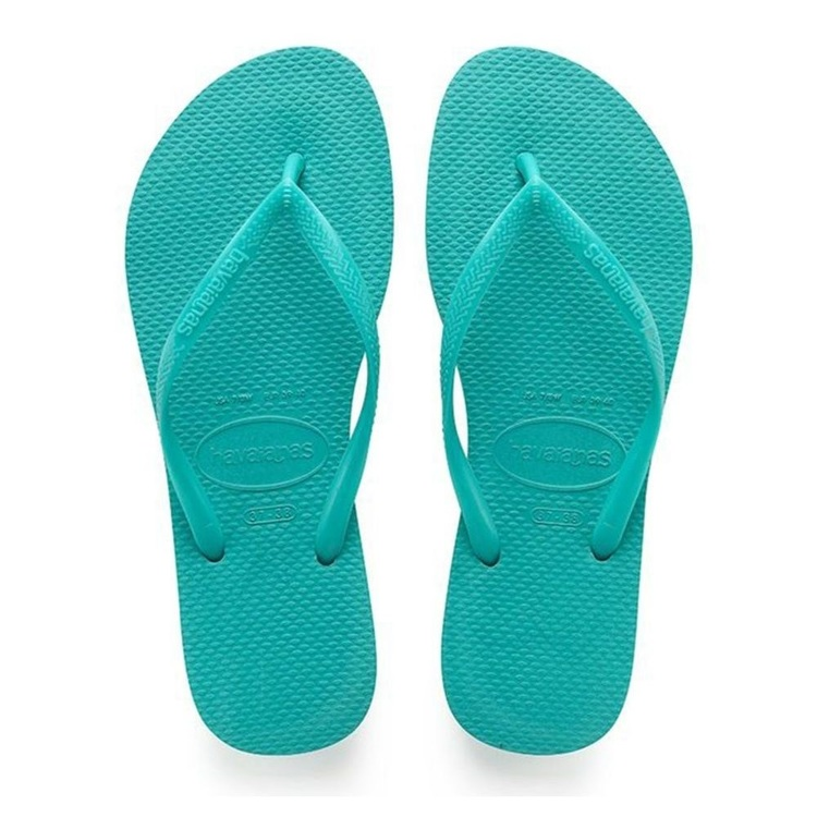 Havaianas Kids' Slim Thongs Lake Green
