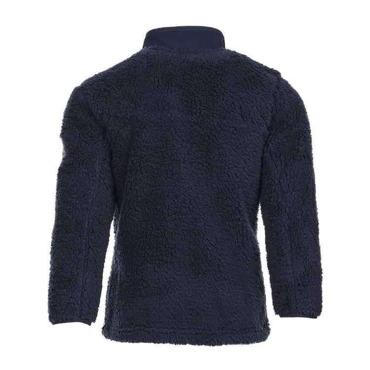Cape Boy Youth's Sherpa Full Zip Top Navy