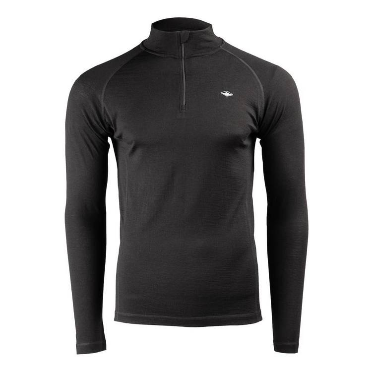 Mountain Designs Men's Merino Long sleeve Quarter Zip Top