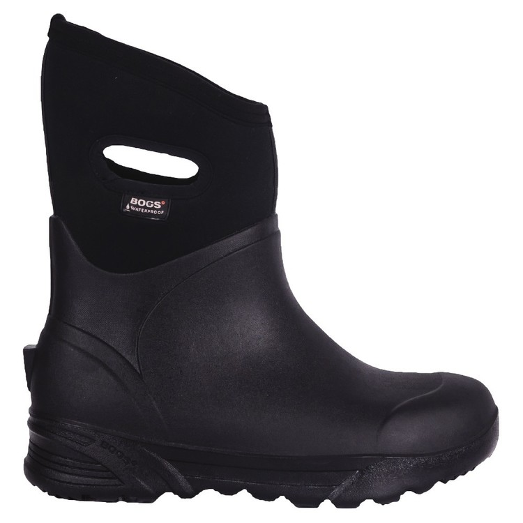 BOGS Men's Bozeman Mid Gumboot Black