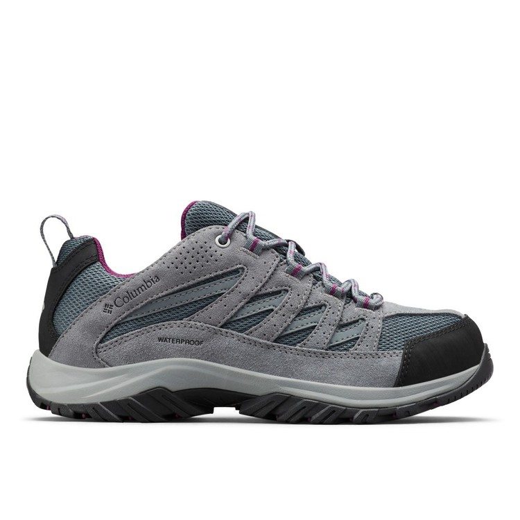 Columbia Women's Crestwood WaterProof Low Hiking Shoes Graphite & Wild Iris