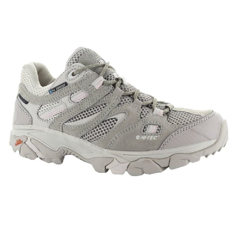 HI-TEC Women's Ravus Vent Lite Low Waterproof Hiking Shoes Warm Grey & Mellow Rose