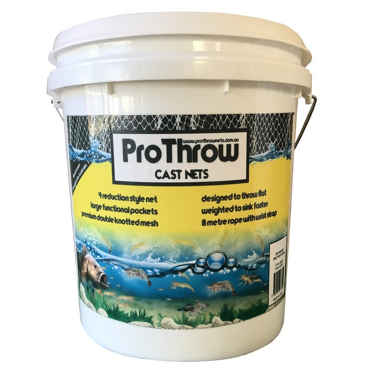 ProThrow 12 Foot Top & Bottom Pocket Cast Net