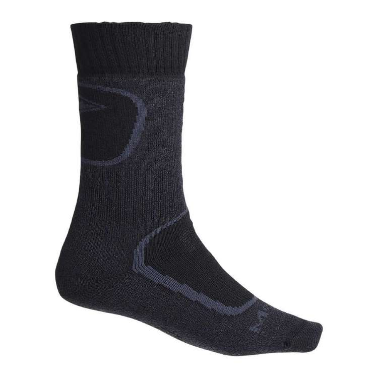 Mountain Designs Adults' Unisex Trekking COOLMAX Socks Charcoal & Black