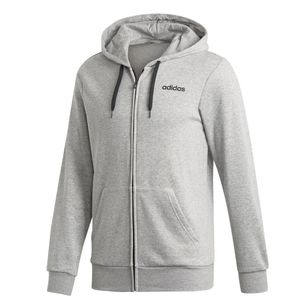 adidas Men's Essentials Linear French Terry Full Zip Hoodie