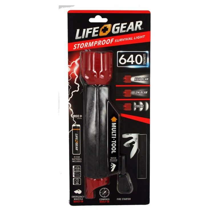 Life+Gear Stormproof Survival Light & Multi-Tool
