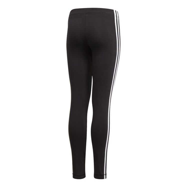 adidas Girl's Essentials 3 Stripes Tights Black & White