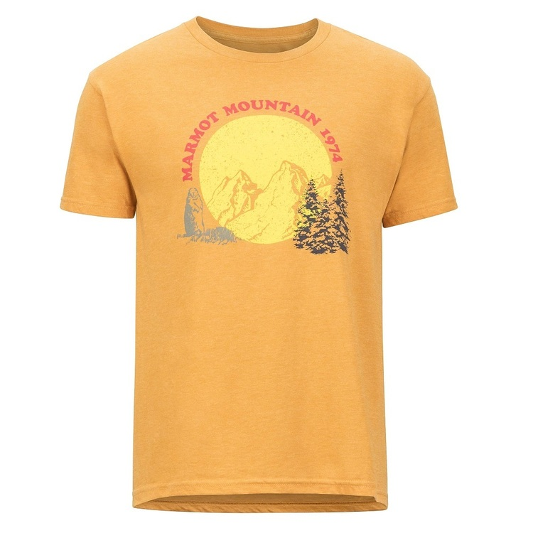 Marmot Men's Boback Short Sleeve T-Shirt Gold