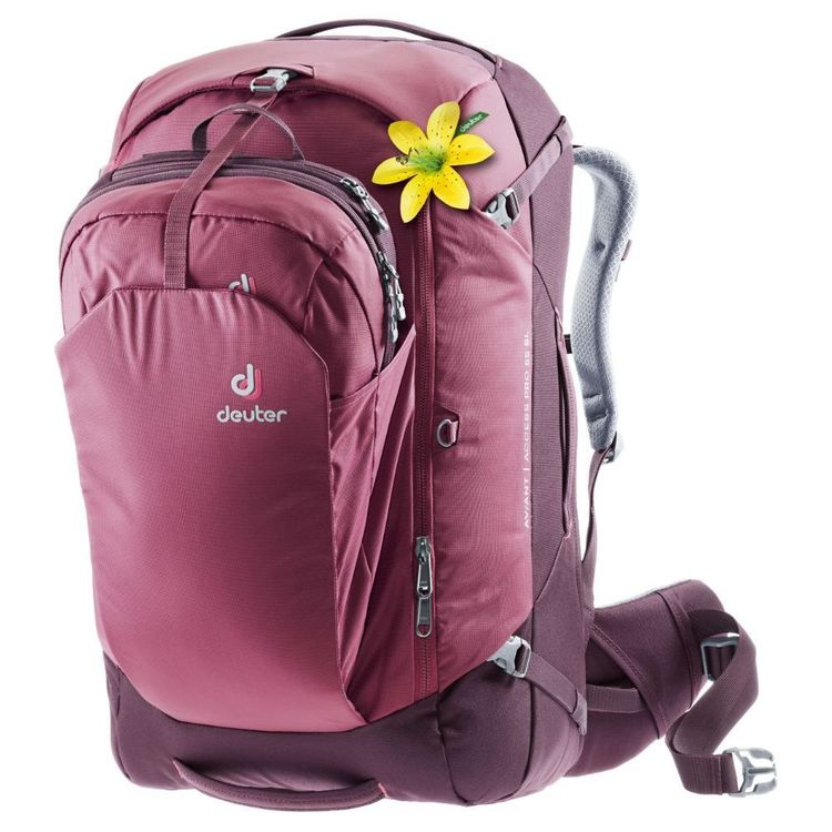 Deuter OP Aviant Access Pro Slim Line 55L Travel Pack Maroon & Aubergine 55 L