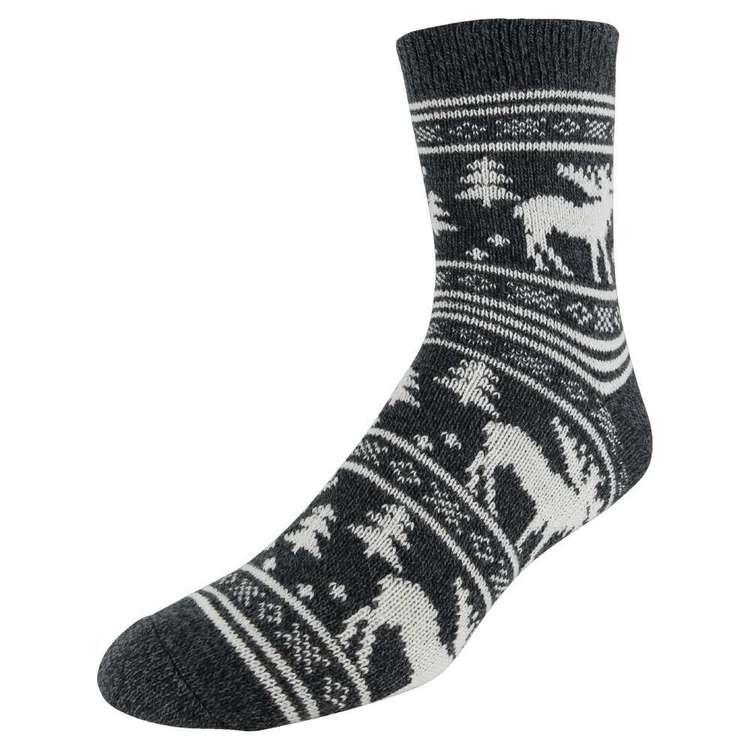 SOF Sole Men's Fireside Moose Socks