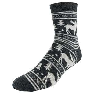 SOF Sole Men's Fireside Moose Socks