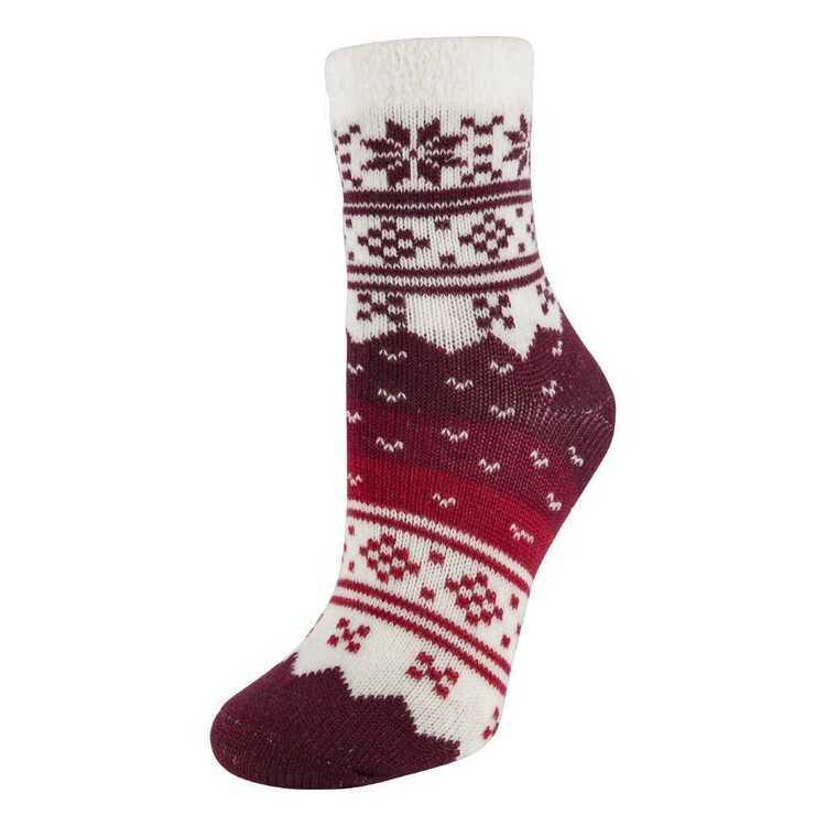 SOF Sole Women's Fireside Snowflake Socks