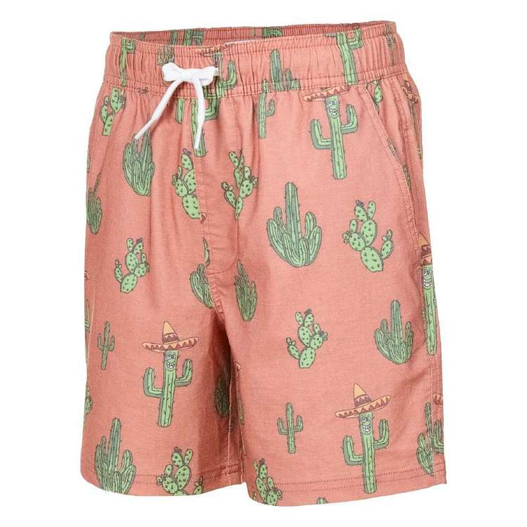 Cape Youth Cactus Volley Shorts Burnt Orange