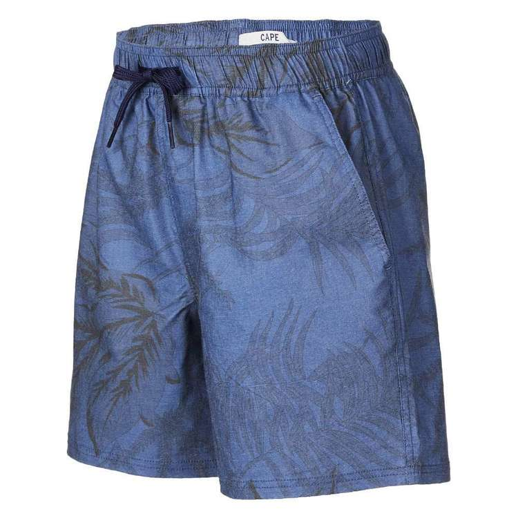 Cape Youth Fern Volley Shorts Cobalt