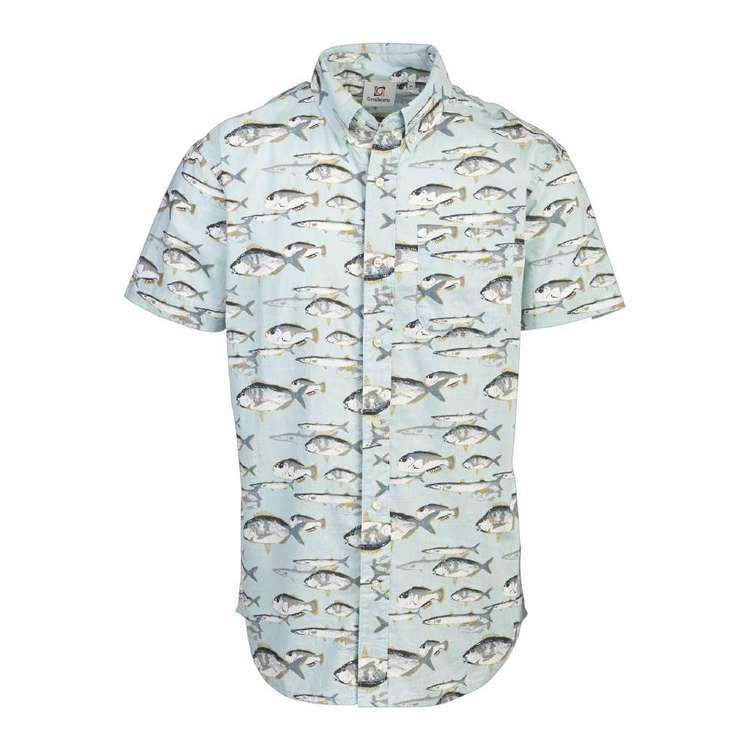 Gondwana Men's Sailfish Short Sleeve Cotton Shirt