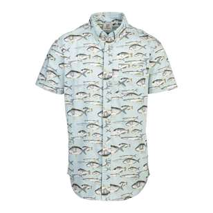Gondwana Men's Sailfish Short Sleeve Cotton Shirt