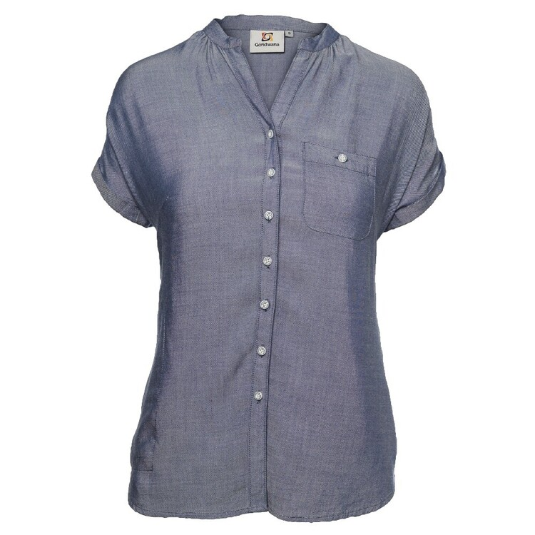 Gondwana Women's Kinaba Short Sleeve Henley Shirt