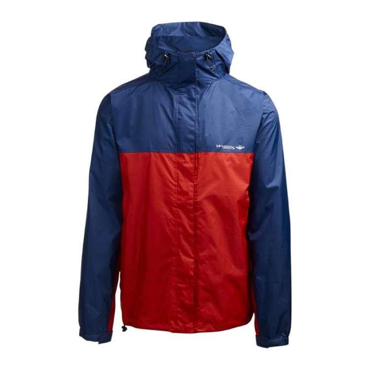 Mountain Designs Men's Wallaman Rain Jacket Navy & Red