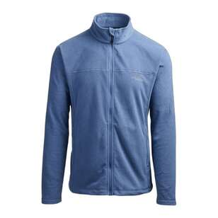 Mountain Designs Men's Bruck Full Zip Fleece Jacket Blue