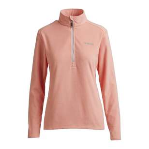 Mountain Designs Womens Navis Half Zip Fleece Jacket Peach