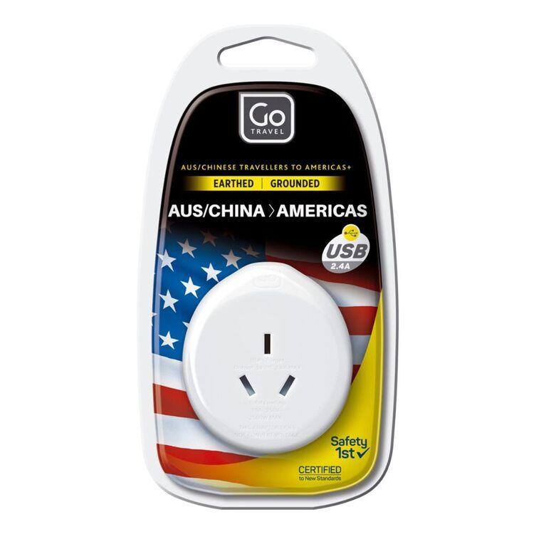 Go Travel Adaptor AUS-USA + USB