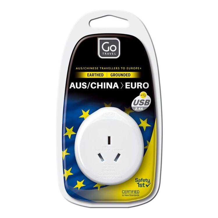 Go Travel Adaptor AUS-EU + USB