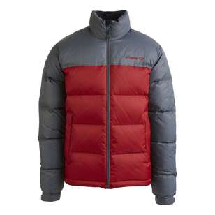 Mountain Designs Men's Resurge 700 Goose Down Jacket Iron & Red