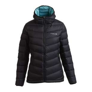 Mountain Designs Women's Peak 700 Down Jacket Black & Turquoise