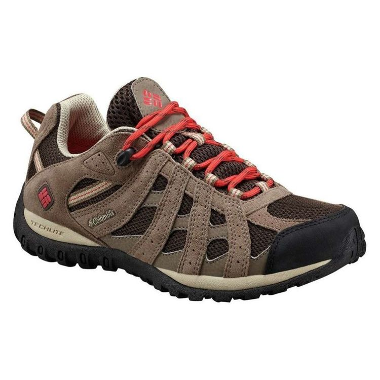 Columbia Women's Redmond Waterproof Low Hiking Shoes Cordovan Sunset Red