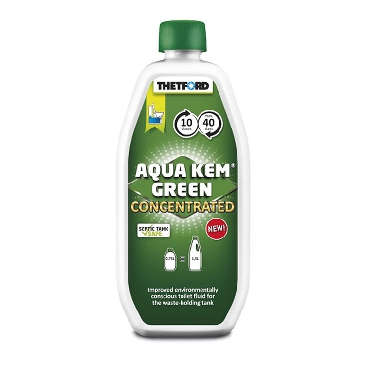Thetford Aqua Kem Green Concentrated Toilet Fluid 750mL Green