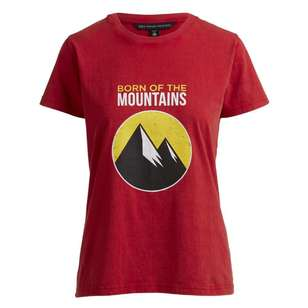 Mountain Designs Women's Red Heritage Short Sleeve Tee