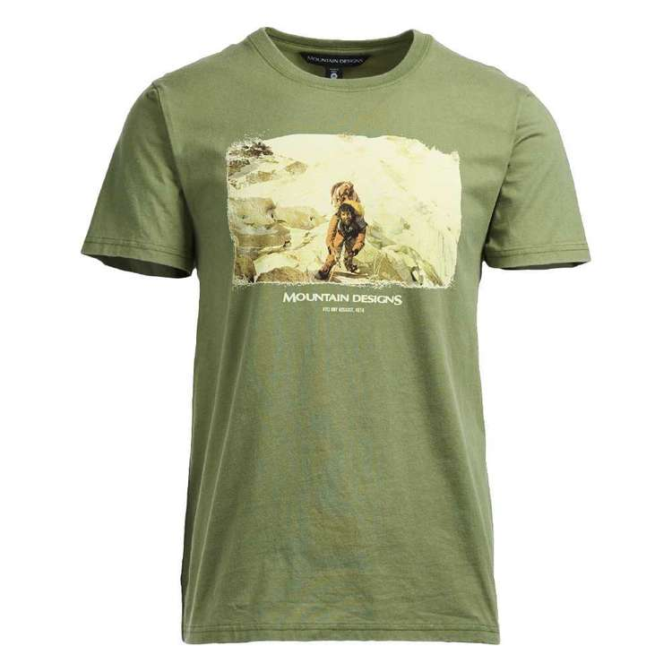 Mountain Designs Men's Heritage Print Green Tee