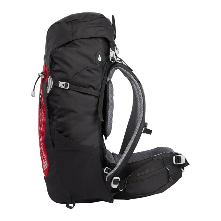 Denali Pinnacle 50L Hike Pack Black & Red 50 L