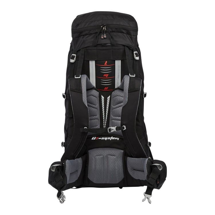 Denali Pinnacle 60L Hike Pack Black & Red 60 L
