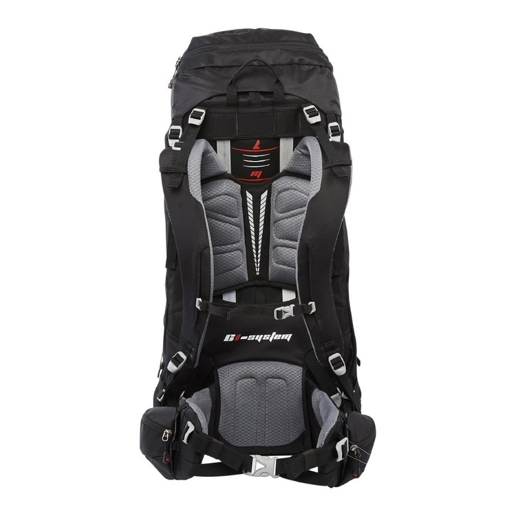 Denali Pinnacle 70L Hike Pack Black & Red 70 L