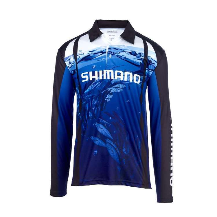 Shimano Kids' Underwater Fishing Shirt Blue