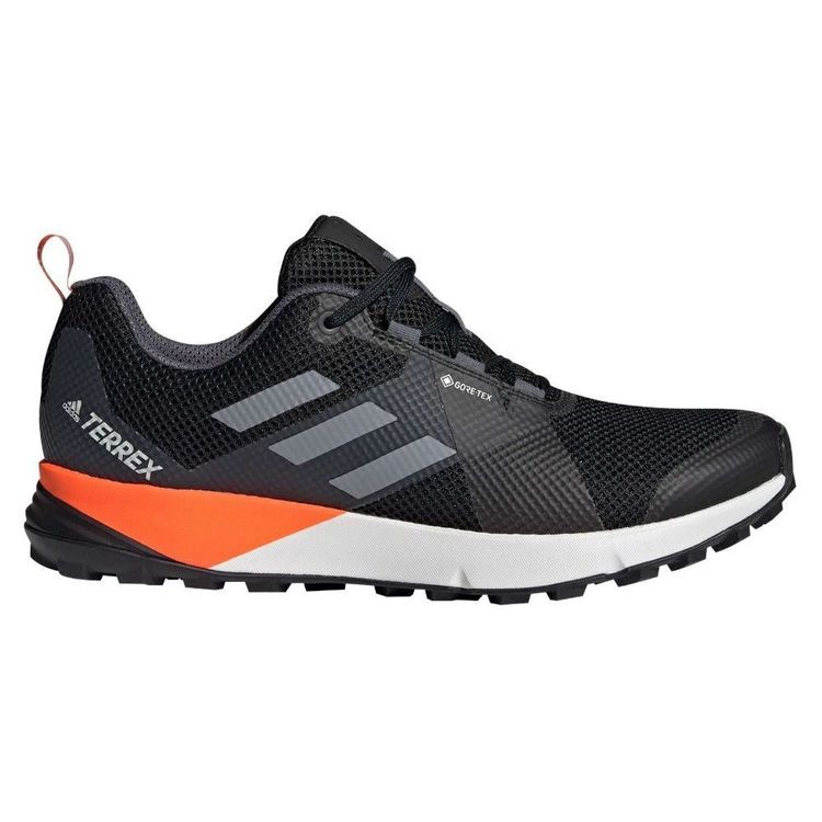 adidas Men's Terrex 2 GTX Shoes Core Black, Grey & Orange