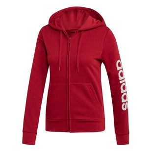 adidas Women's Essentials Linear French Terry Full Zip Hoodie