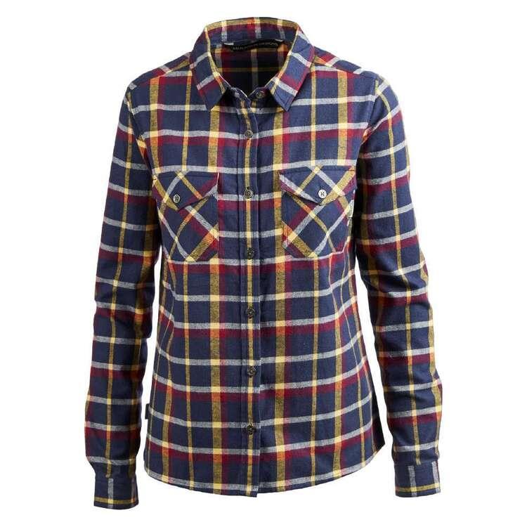 Mountain Designs Women's Trephina Long Sleeve Shirt Navy & Plum Check