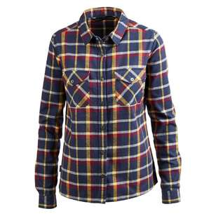Mountain Designs Women's Trephina Long Sleeve Shirt Navy & Plum Check