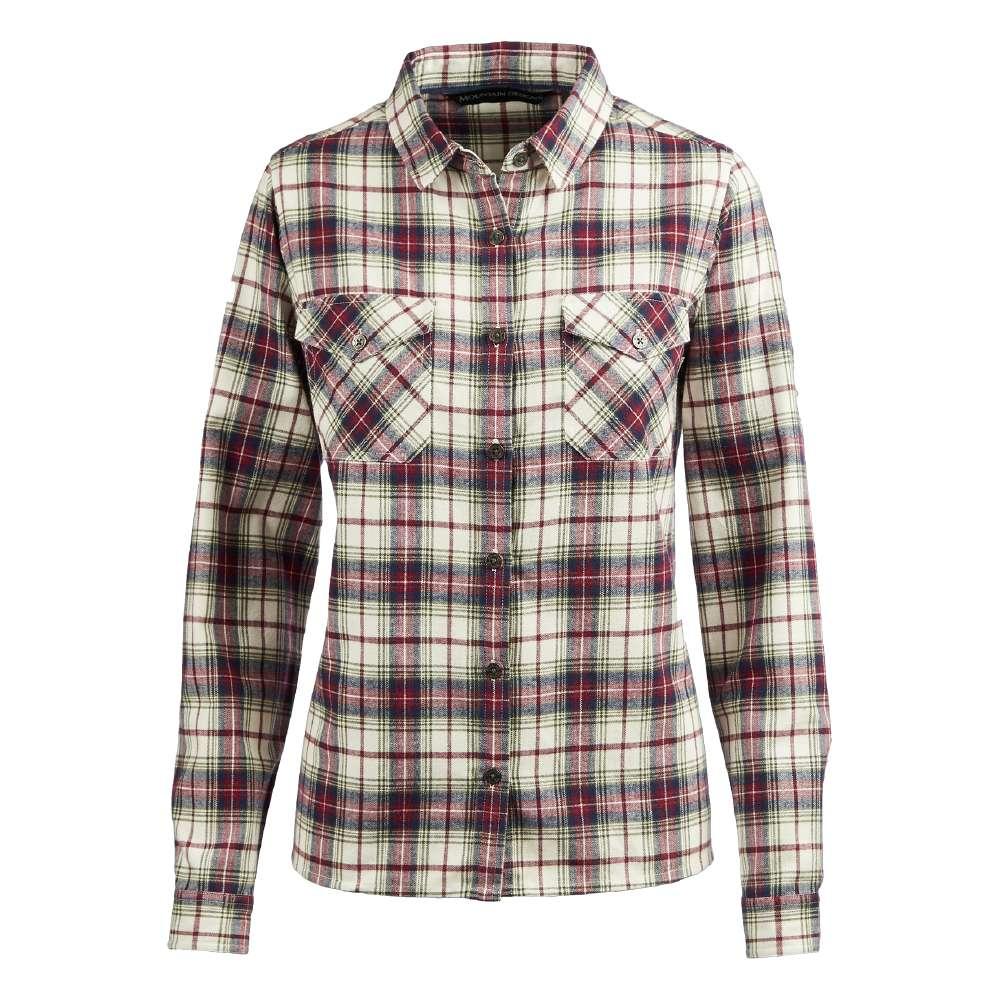 Mountain Designs Women's Trephina Long Sleeve Shirt Plum & White Check