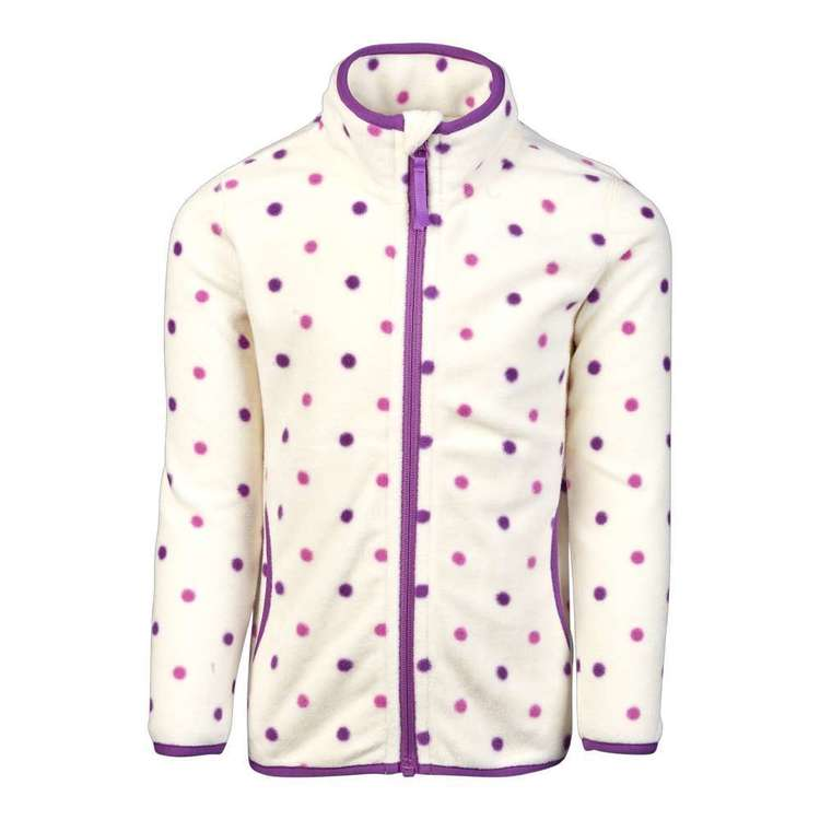 Cape Kids' Spotted Fleece Jacket Print