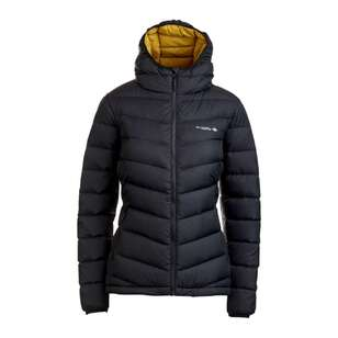 Mountain Designs Women's Peak 700 Down Jacket Black & Yellow
