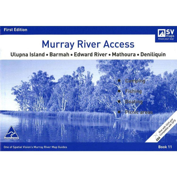 Murray River Access Map #11 Ulupna Island, Barmah, Edward River, Mathoura, Deniliquin