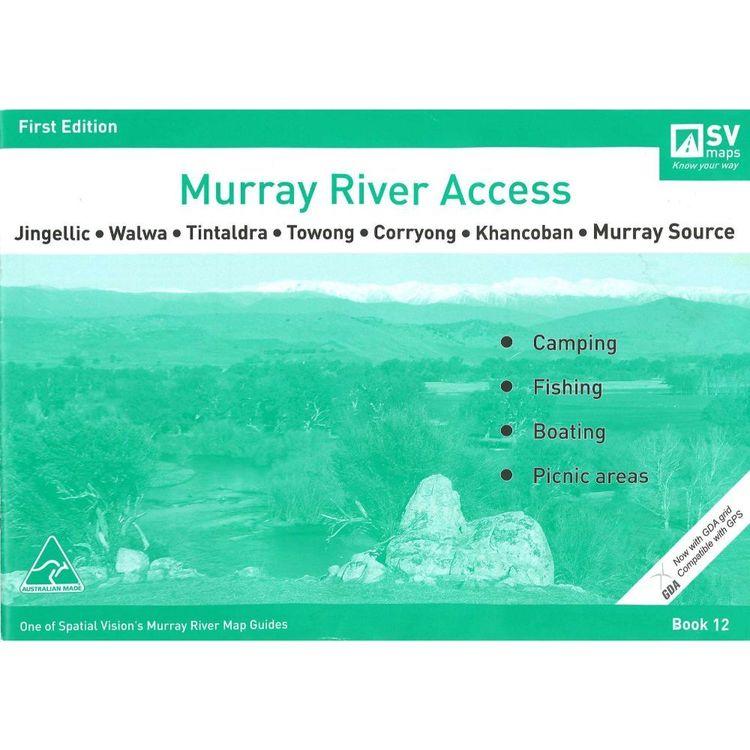 Murray River Access Map #12 Jingellic, Walwa, Tintaldra, Towong, Corryong, Khancoban, Murray Source
