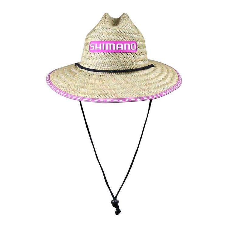 Shimano Kids' Pink Straw Hat