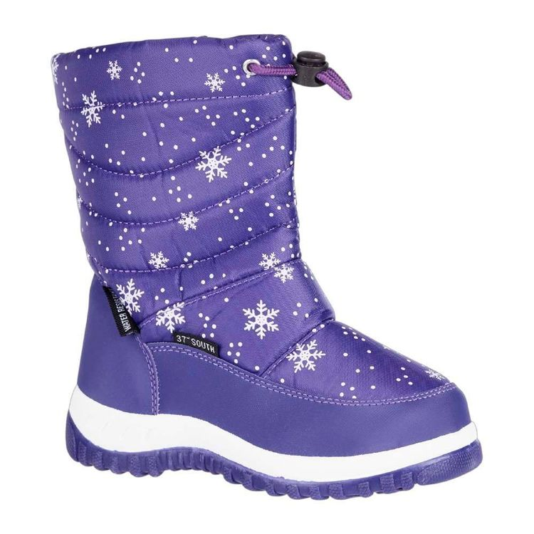 37 Degrees South Kids' Snowflake Snow Boots Purple