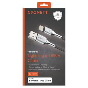 Cygnett Armour Light To USB-A Cable 1M